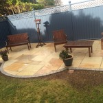 patio at the end of the garden