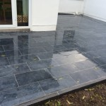 paving with a wet look