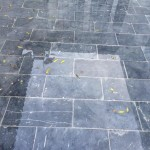 slabs are strongly set into the ground
