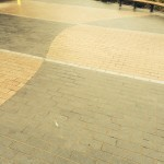 a wide area of paving in fitzgerald park cork city